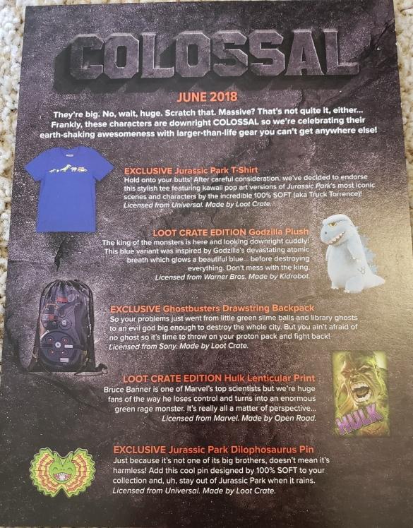 Colossal info sheet